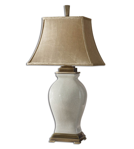 Uttermost 26737 Rory Ivory 33 inch 100 watt Crackled Aged Ivory Glaze Over Porcelain Table Lamp Portable Light