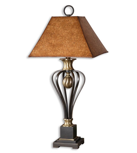 Uttermost Sonoma Table Lamp in Lightly Distressed Black 26742