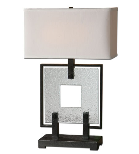 Uttermost Pondera Black Square Table Lamp in Black Square 26763-1 photo