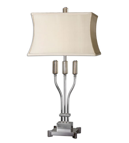 Uttermost Braselton Table Lamp in Nickel Plated 26861 photo