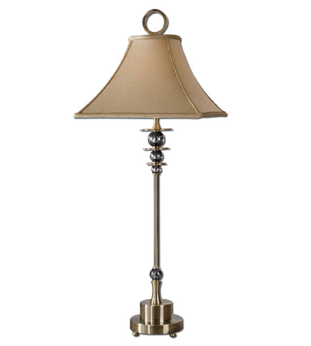 Uttermost Brazzano Table Lamp in Plated Coffee Bronze Metal 26878 photo