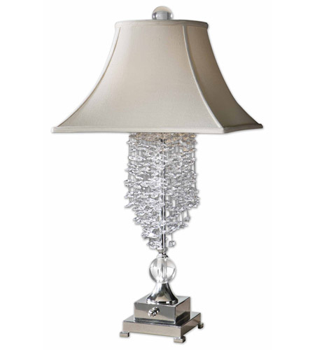 Uttermost 26894 Fascination 33 inch 60 watt Silver Plated Table Lamp Portable Light photo