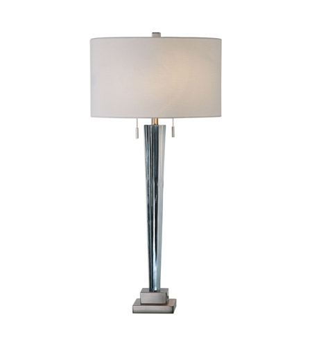 Uttermost 27322 Afina 36 Inch 60 Watt Brushed Nickel Table Lamp Portable  Light, Jim Parsons