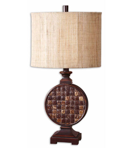 Uttermost Burundi Table Lamp in Lightly Distressed Mahogany Red 27360-1 photo