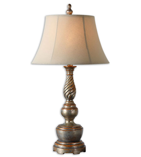 Uttermost Revere Table Lamp in Lightly Antiqued Silver Champagne 27369