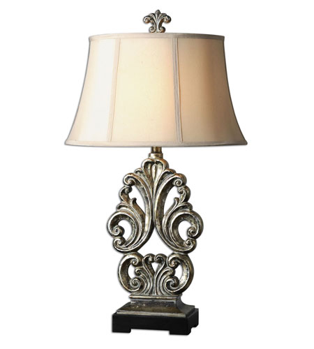 Uttermost Vicalvi Table Lamp in Antiqued Silver 27388