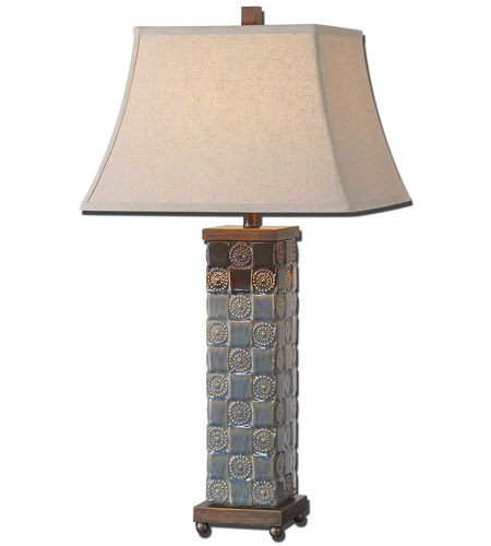 Uttermost Blue Glaze Ceramic Table Lamps