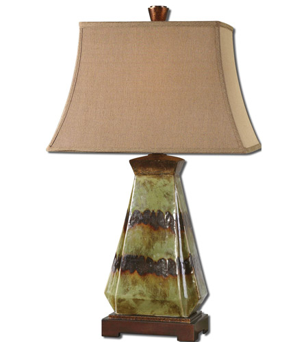 Uttermost Salvio 1 Light Table Lamp in Antiqued Green 27411