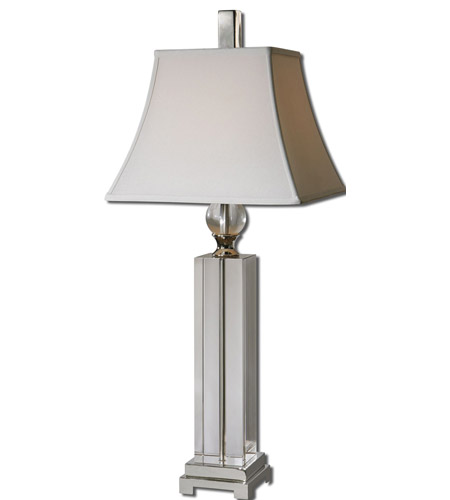 Uttermost 27438 Sapinero 38 inch 150 watt Polished Nickel Table Lamp Portable Light photo