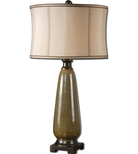 Uttermost Albera 1 Light Table Lamp In Olive Green Glaze 27443 1