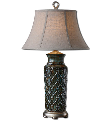 Uttermost Light Blue Ceramic Table Lamps