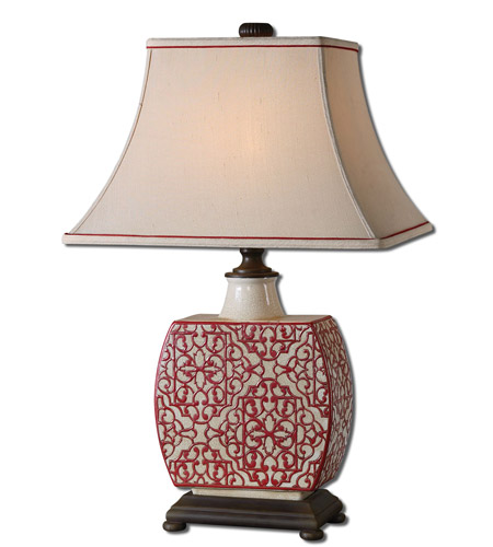 Uttermost Lindsa 1 Light Table Lamp in Antiqued Ivory 27473 photo