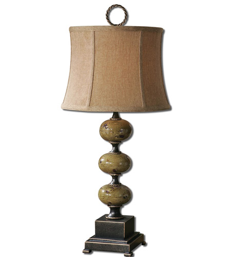 Uttermost Porano 1 Light Table Lamp in Mossy Green Glaze 27480 photo