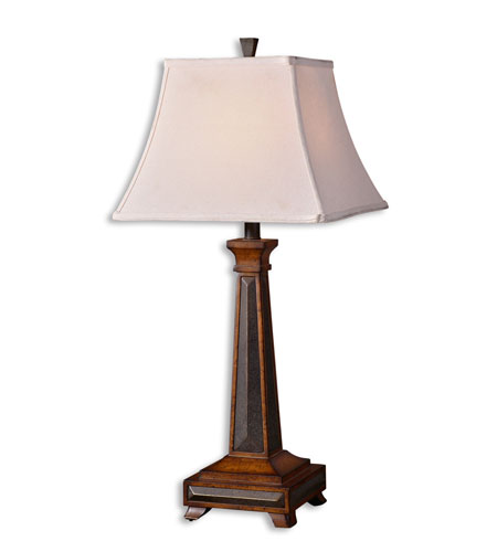 Uttermost Oswald Table Lamp in Distressed Pecan 27646