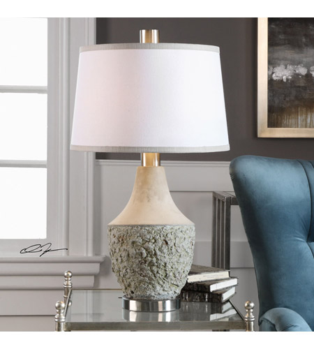 Uttermost Gray Fabric Table Lamps