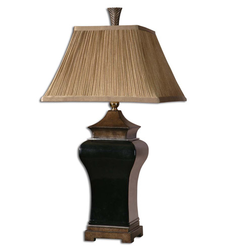 Uttermost 27729 Delmar 34 Inch 150 Watt Ebony Glaze Table Lamp Portable Light