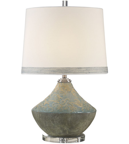 Uttermost Blue Crystal Table Lamps