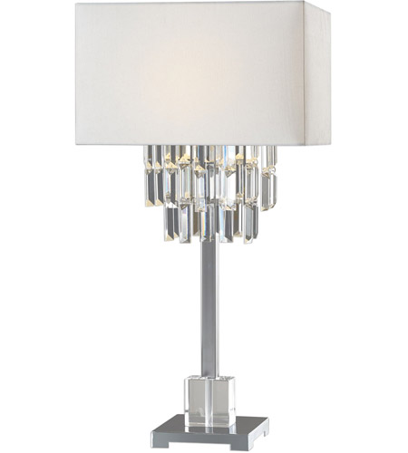 Uttermost 27805-1 Resana 28 inch 150 watt Polished Nickel Table Lamp Portable Light