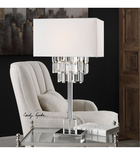 Uttermost 27805-1 Resana 28 inch 150 watt Polished Nickel Table Lamp Portable Light 27805-1_Lifestyle.jpg
