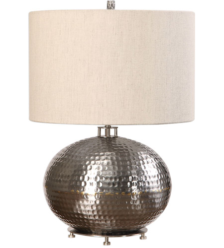 Uttermost 27821-1 Metis 22 inch 150 watt Hammered Steel Table Lamp Portable Light 27821-1_A.jpg