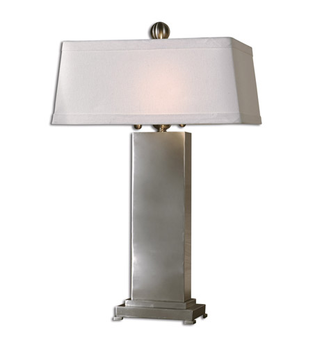 Uttermost Metal Contempo Table Lamp in Satin Nickel 27874 photo