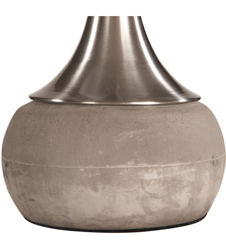 Uttermost 27875-1 Niah 28 inch 150 watt Brushed Nickel and Natural Concrete Table Lamp Portable Light 27875-1_A1.jpg