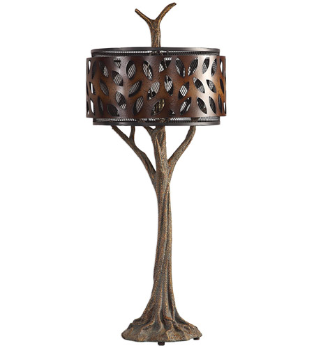 Uttermost 27877 Tremula 41 inch 150 watt Antiqued Metallic Gold and Antique Rustic Bronze Table Lamp Portable Light 27877_A.jpg