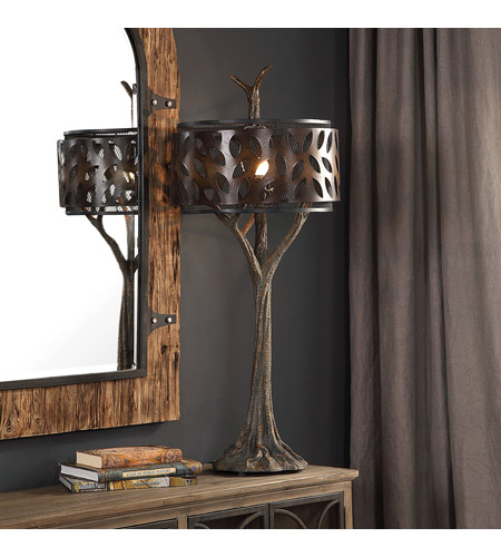 Uttermost 27877 Tremula 41 inch 150 watt Antiqued Metallic Gold and Antique Rustic Bronze Table Lamp Portable Light 27877_A1.jpg