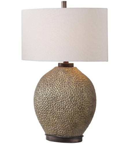 Uttermost 27915-1 Aker 28 inch 150 watt Antiqued Golden Bronze and Dark Bronze Table Lamp Portable Light photo thumbnail
