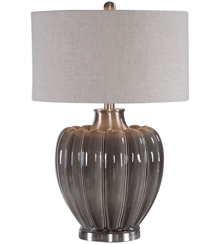 b9b73255fc0 ... Lamp Portable Light. 1422243 Adler 55. Uttermost 27921-1 Adler 29 inch  150 watt Smoky Gray Glaze and Brushed Nickel Table