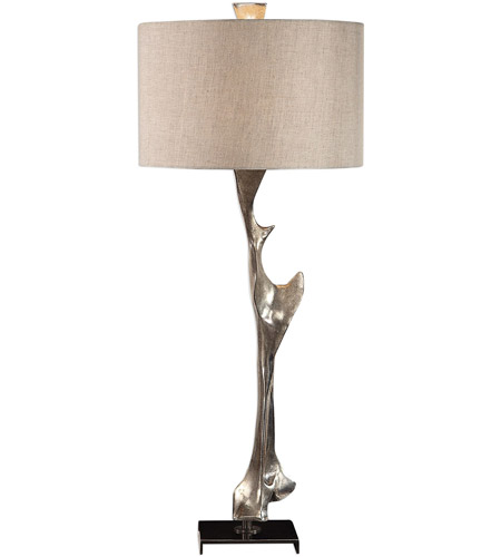 Uttermost 27929 Ophion 39 inch 150 watt Metallic Silver and Black Nickel Table Lamp Portable Light photo thumbnail