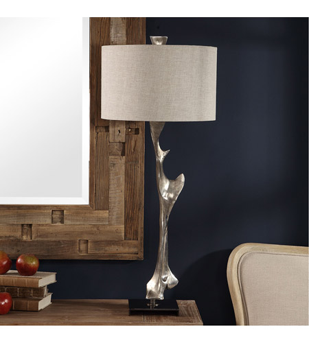 Uttermost 27929 Ophion 39 inch 150 watt Metallic Silver and Black Nickel Table Lamp Portable Light alternative photo thumbnail