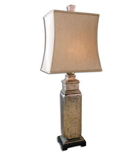 Uttermost Sylvester Table Lamp in Lightly Distressed Silver Leaf 27934