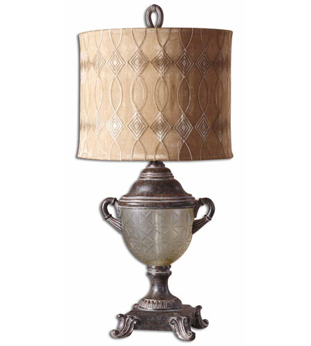 Uttermost Ottavia Table Table Lamp in Distressed Burnt Brown 27966-1