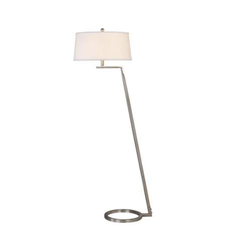 Uttermost 28108 Ordino 63 inch 150 watt Brushed Nickel Floor Lamp Portable Light