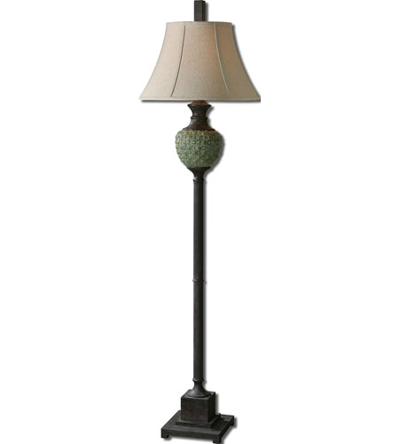 Uttermost Benevello 1 Light Floor Lamp in Crackled Green 28245 photo
