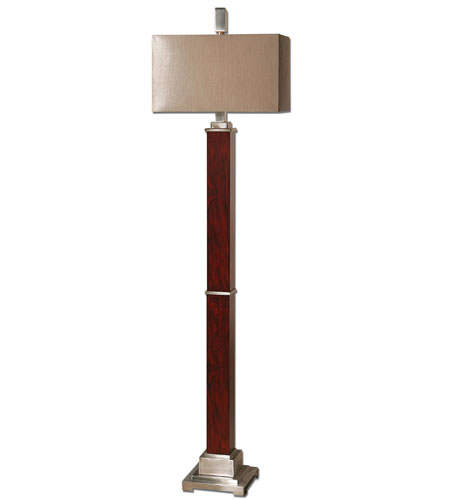 Uttermost Brimley Modern Wood Floor Lamp in Wood 28247-1 photo