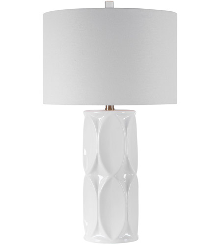 Uttermost 28342-1 Sinclair 26 inch 150 watt White Table Lamp Portable Light