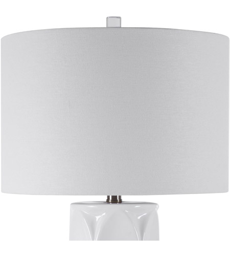 Uttermost 28342-1 Sinclair 26 inch 150 watt White Table Lamp Portable Light 28342-1_A2_LIGHT-OFF.jpg