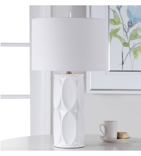 Uttermost 28342-1 Sinclair 26 inch 150 watt White Table Lamp Portable Light 28342-1_beauty.jpg
