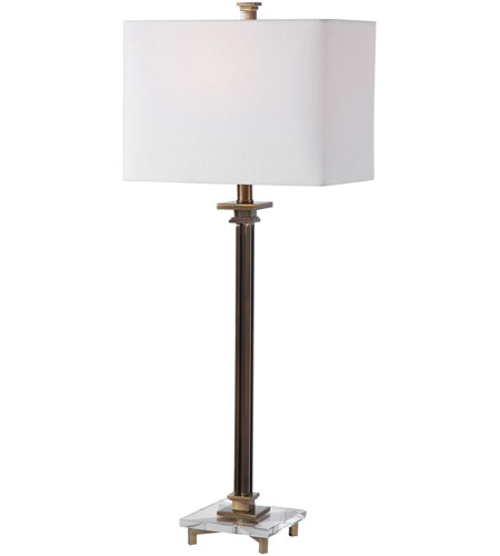 Uttermost 28349-1 Phillips 34 inch 100 watt Brass Table Lamp Portable Light