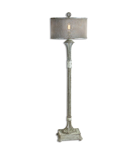 Uttermost 28464-1 Pontoise 65 inch 150 watt Aged Ivory Floor Lamp Portable Light