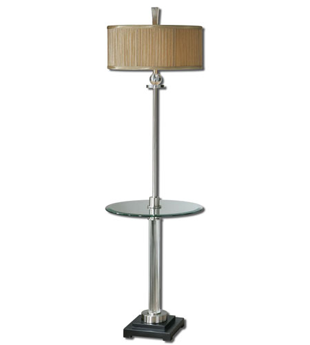 Uttermost 28586-1 Rowley 63 X 18 inch Brushed Aluminum End Table with Lamp