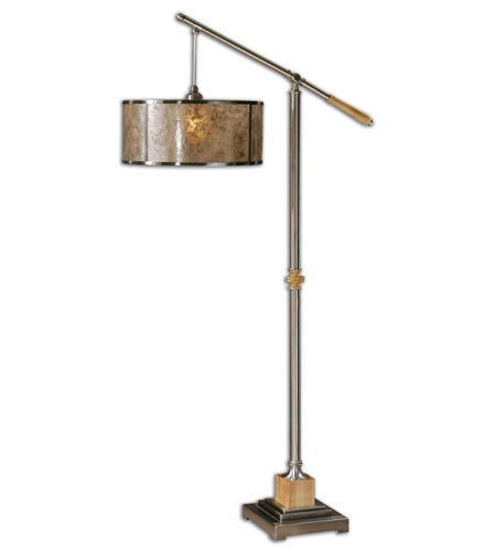 Uttermost Sitka Silver Floor Lamp in Brushed Aluminum 28590-1