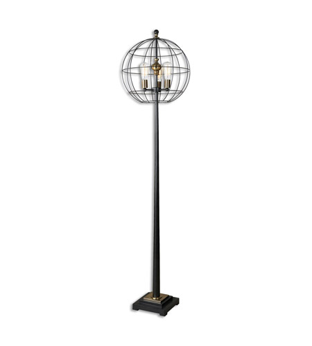 palla 74 inch 100 watt aged black floor lamp portable light photo. Black Bedroom Furniture Sets. Home Design Ideas