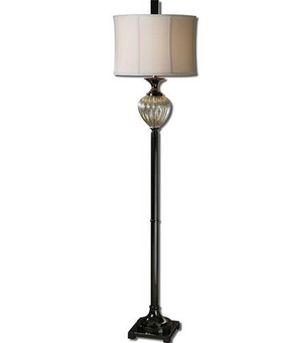 Uttermost Camerana 1 Light Floor Lamp in Antiqued Silver 28720-1 photo