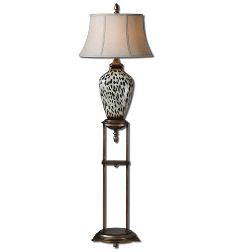 Uttermost Malawi 1 Light Floor Lamp in Burnished Cheetah Print 28876 photo