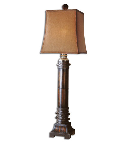 Uttermost Penshell Rustic Table Lamp in Hand Rubbed Brown 29114