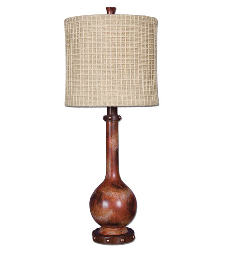 Uttermost Sherburne Red Rust Buffet Lamp in Red Rust 29175-1 photo