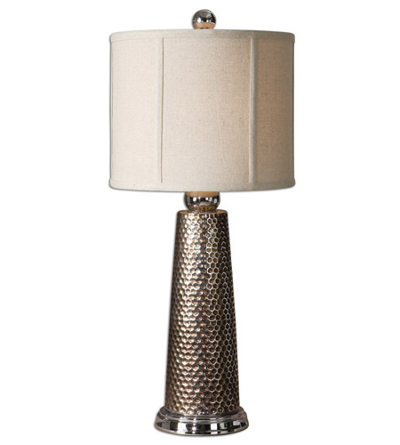 Uttermost 29288-1 Nenana 28 inch 150 watt Nickel Plated Mesh Design Table Lamp Portable Light